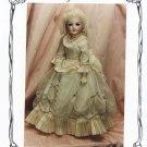 "Yesterday's Children 1880's style dress for 18"" porcelain doll, BS-287 NEW"