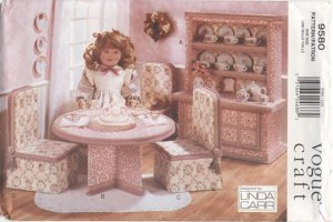 No Sew Tea Party Furniture Set Vogue Craft 9580 NEW