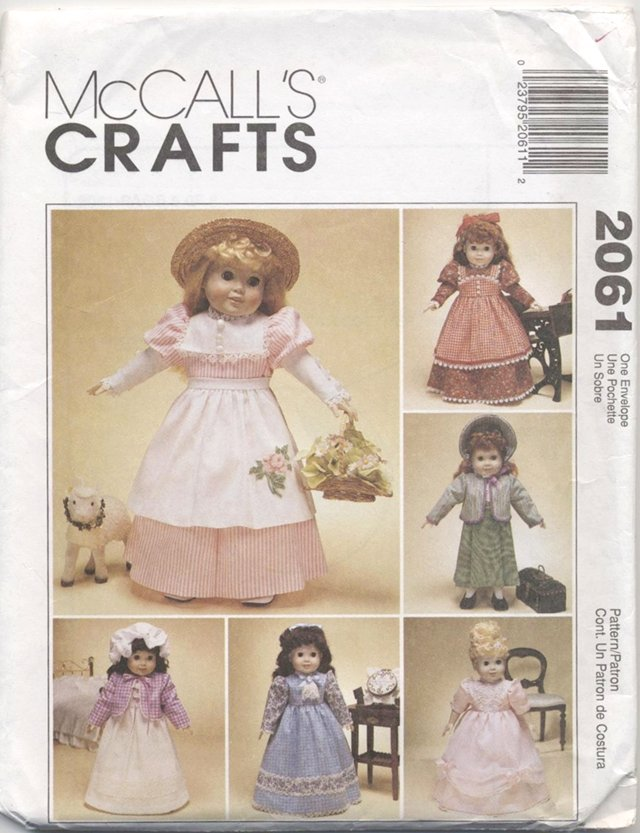Magic Attic or American Girl 19th Century Doll Clothes McCalls Craft 2061 NEW