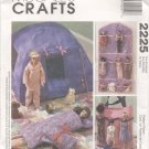 "Barbie 11 ½"" Doll Camping Set, Doll Organizer, and Tote, McCalls Crafts 2225 NEW"
