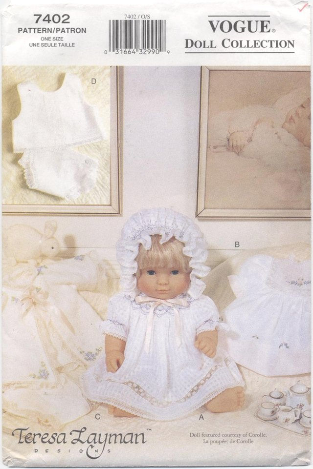 Baby Doll Layette 14-16� Doll, Vogue Doll Collection 7402 NEW