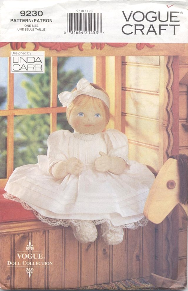 Soft Baby Doll and Heirloom Style Clothing for 15� (38.1 cm)Dolls Vogue Doll Collection 9230 NEW