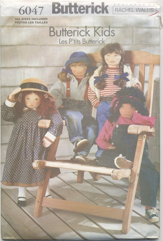 Soft Doll Pattern for 36� (91.4 cm) Dolls Butterick 6047 NEW