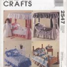 "Bedroom Sets for Magic Attic, American Girl Doll 18"" (45.7 cm) Dolls McCall's Crafts 2547 NEW"