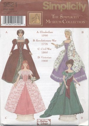 Barbie 11 ½� Fashion Doll 19th Century Historical Costumes Vogue Doll Collection 745 NEW