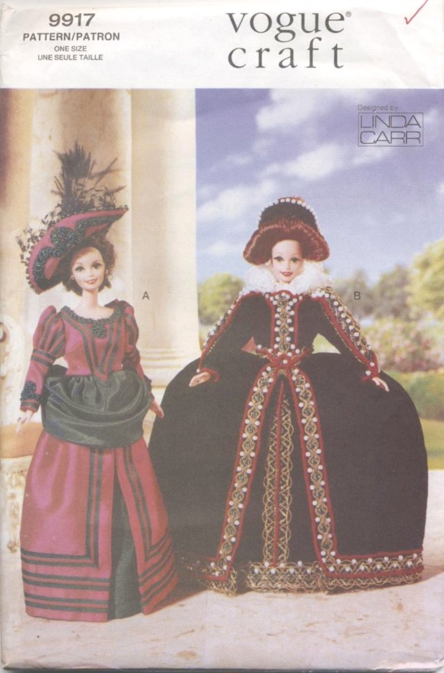 Barbie 11 ½� Fashion Doll Elizabethan Costumes Vogue Craft 9917 NEW