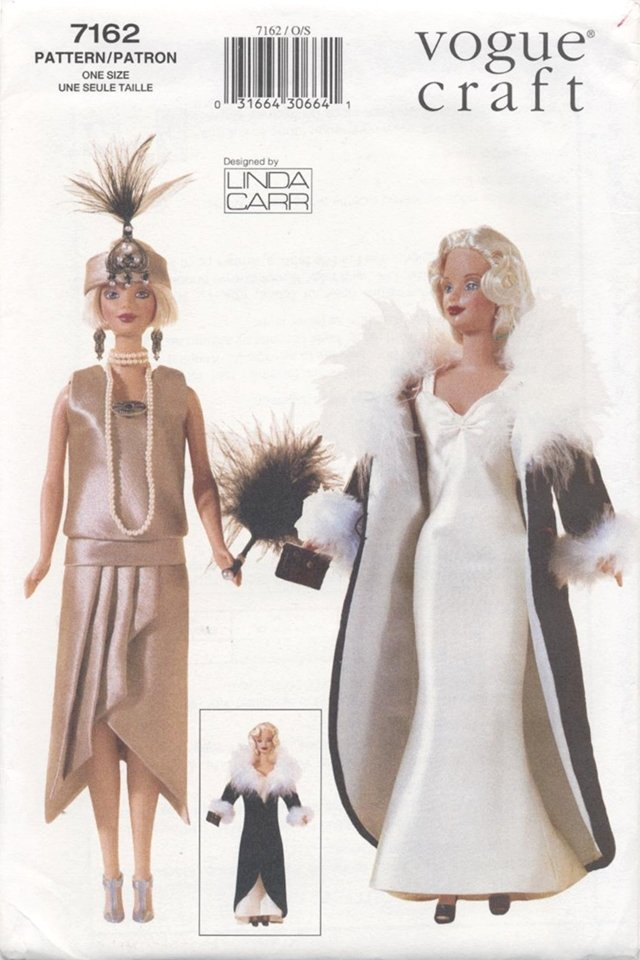 Barbie 11 ½� Fashion Doll 1920's Outfits Vogue Craft 7162 NEW