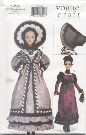 Barbie 11 ½� Fashion Doll Early 19th Century, Vogue Craft 7296 NEW