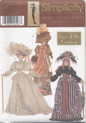 Barbie 11 ½� Fashion Doll 1900�s Historical Gowns Simplicity Doll Collection 9522 NEW