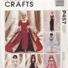 "Barbie 11 ½"" Fashion Doll Modern Gowns, Tutu Costume McCall's Crafts P457 NEW"