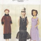 "Barbie 11 ½"" Fashion Doll The Delineator Girls 1920's Gowns Butterick 6798 NEW"