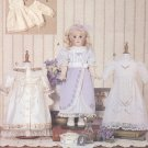 "Heirloom Style Dresses with Lace and Pin Tucks for 18"" Doll Vogue Doll Collection 7442 NEW"