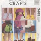 "Variety of Accessory Patterns for 18"" American Girl Type Dolls McCall's Crafts 3469 NEW"