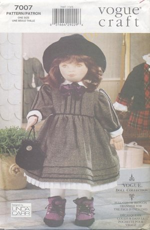 Soft Doll Olivia, 18�, and Dress Patterns Vogue Craft 7007 NEW