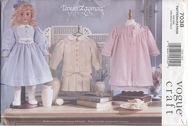 Heirloom Styled Wardrobe, 18� American Girl Type Dolls Vogue Craft 7038 NEW