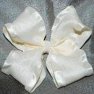 Ivory Ruffle Bow