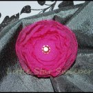 Hot Pink Organza Singed Flower