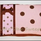 Pink & Chocolate Dots Wipes Case