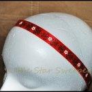 Red & Black Swirl Satin Headband
