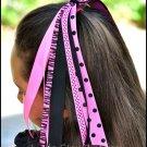 Hot Pink & Black Pony O Streamer