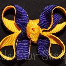 Bitty Double Delight Bow - Purple & Gold