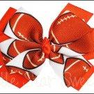 Football Layered Pinwheel Bow