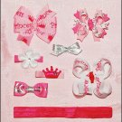Pretty Pink Princess Bow/Clip Collection