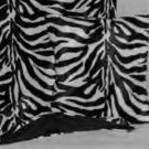Black and White Zebra Wide Stripe Faux Fur Throw Blanket, New!