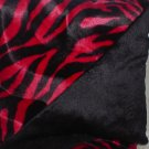 Black & Red Zebra & Black faux fur throw pillows