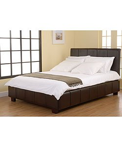 Brand New Dark Brown Genuine Leather Bed Frame LOCAL PICK UP