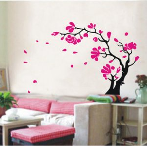 red flower tree Decor Wall Sticker wall decal 71""