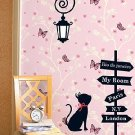 "cat lamp Decor Wall Sticker wall decal 49""*23"""