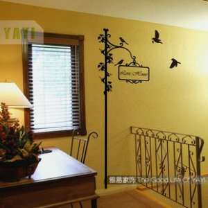 "bird signpost Decor Wall Sticker wall decal 75""*35"""