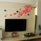 "swallow cherry branch Decor Wall Sticker wall decal 67""*28"""