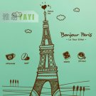 hello paris Decor Wall Sticker wall decal 31""