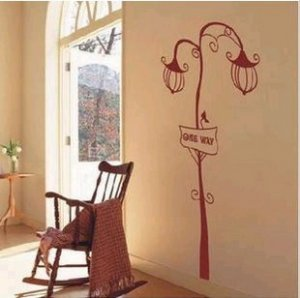 "lamp Decor Wall Sticker wall decal 37""*73"""