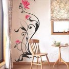 "lotus design Sticker wall decal 63""*12"""
