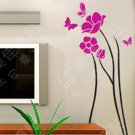 yulan flower with butterfly Sticker wall decal 59&quot;*27&quot;
