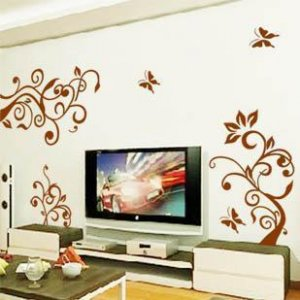 flower tree butterfly Decor Wall Sticker 39&quot;*33&quot;