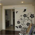 butterfly and flower Decor Wall Sticker 39&quot;*43 1/2&quot;