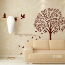 birds tree Decor Wall Sticker 57""