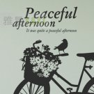 bike bird Decor Wall Sticker 39&quot;