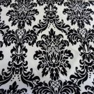"Damask Satin Fabric Black and White Fabric by Yard 58"" wide"