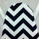 CHEVRON ZIGZAG BLACK and White ironing Board cover