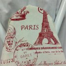 RED AND IVORY Paris french stamp ironing Board cover red and ivory standard size newsprint