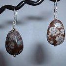 BROWN JASPER FACETED Sterling Silver Earrings 364
