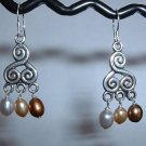 FRESHWATER PEARL DANGLE Sterling Silver Earrings 333