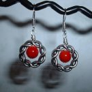 RED CORAL Sterling Silver Earrings 531