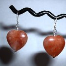 ROSE CRYSTAL HEART Sterling Silver Earrings 305