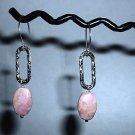 PINK RHODOCHROSITE OVAL Sterling Silver Earrings 381